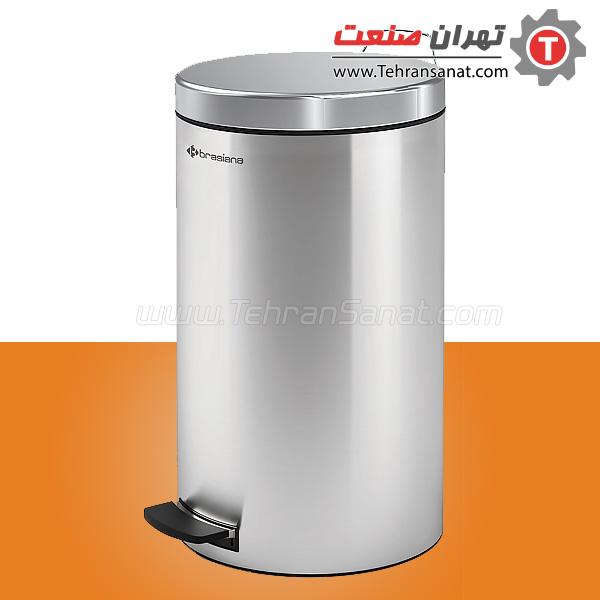 سطل زباله تمام استیل 20 لیتری براسیانا