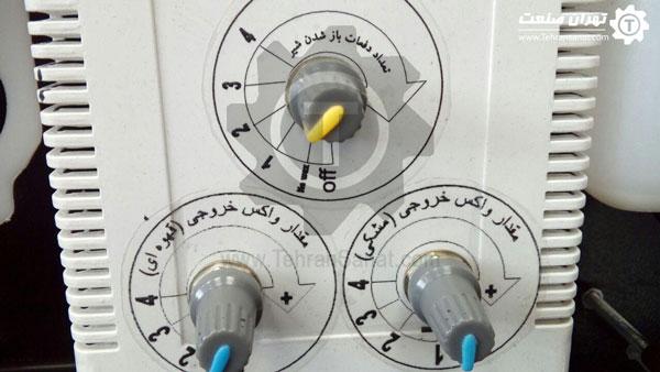 برد تنظیم میزان تزریق واکس روی فرچه ها