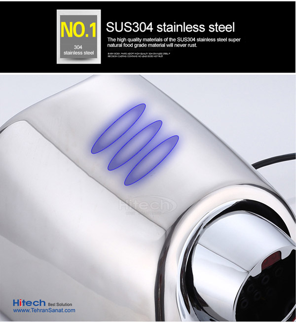 ساخته شده از استیل ضد زنگ دست خشک کن SMARTdry Hitech