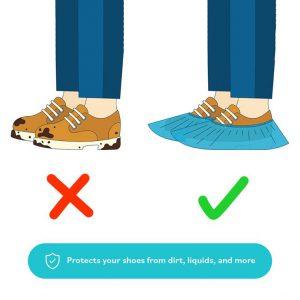 کاور-کفش-یکبار-مصرف-مناسب-محافظت-در-مقابل-کثیفی-و-آب