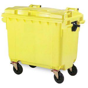 مخزن زباله پلی اتیلن 660 لیتری مکانیزه- کد 4501