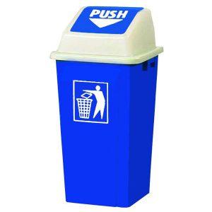 سطل زباله با درب بادبزنی (دمپری) 120 لیتری -کد 4006