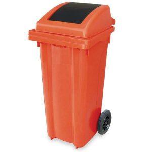 سطل زباله دمپری چرخدار 120 لیتری -کد 4007