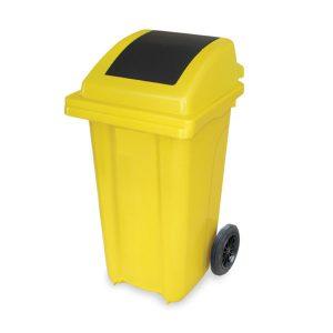 سطل زباله بادبزنی 100 چرخدار -کد 4010