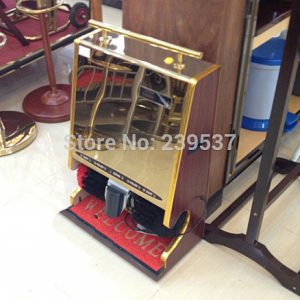 دستگاه واکس دو برس تک شیر هتلی - استیل طلایی-کد 1010