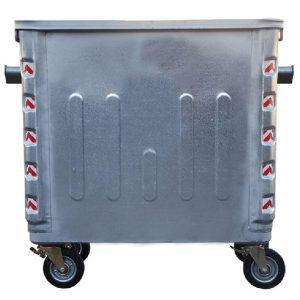مخزن زباله فلزی 1100 لیتری مکعبی تمام پرس با ورق 1.5 بدون درب- کد A4108