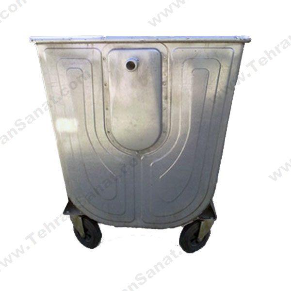 مخزن زباله گالوانیزه 770 لیتری قوس دار با ورق 1.5 بدون درب - کد A4106