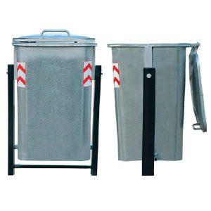 سطل زباله گالوانیزه 220 لیتری پاندولی- کد 4701