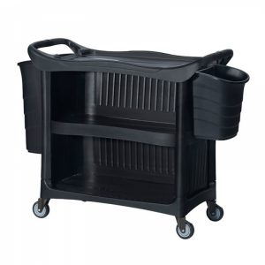 ترالی حمل غذا سه طبقه Excell سه طرف بسته مدل XL-7702 کد 6020