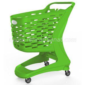 چرخ خرید فروشگاهی 90 لیتری پلی کربنات مات