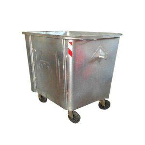 مخزن زباله گالوانیزه 660 لیتری چهارگوش با ورق 1.5 بدون درب - کد P4710