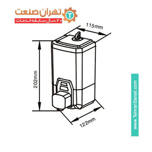 صابون و مایع ریز دستی REENA کروم نقره ای مدل 1100