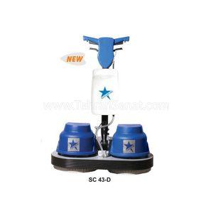 پولیشر کفشوی صنعتی و قالیشوی دوقلو مدل SC 43 Doubel - کد 771
