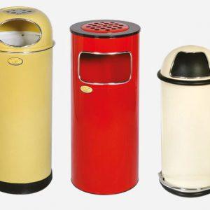 سطل زباله زیر سیگاری دار استیل مدل L70 - کد 590