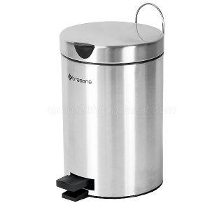 سطل زباله استیل 3 لیتری براسیانا با درب آرام بند - کد 612