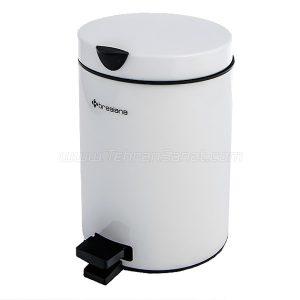 سطل زباله استیل 3 لیتری Brasiana با درب آرام بند مدل BPS-111 - کد 612