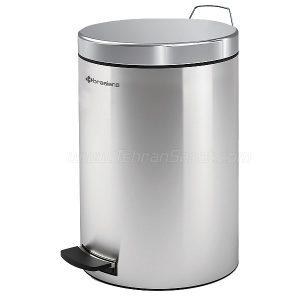 سطل زباله تمام استیل 12 لیتری Brasiana مدل BPB-181 - کد 615