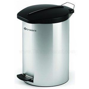 سطل زباله استیل آشپزخانه 12 لیتری Brasiana مدل BPB-191 - کد 607