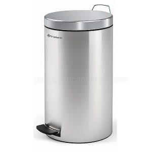 سطل زباله تمام استیل 16 لیتری Brasiana مدل BPB-221 - کد 616