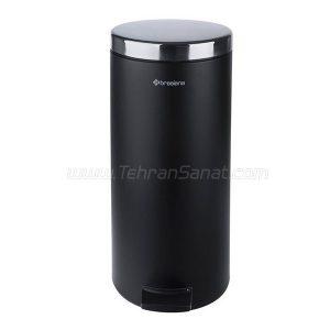 سطل زباله 20 لیتری پدالی brasiana مشکی - کد 652