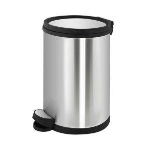 سطل زباله دستشویی استیل آرام بند 5 لیتری - کد 556