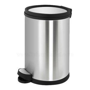 سطل آشغال آشپزخانه استیل آرام بند 12 لیتری - کد 612