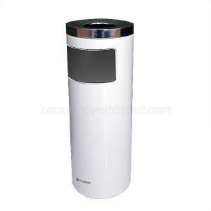 سطل زباله جا سیگاری دار استیل سفید Brasiana - کد 609