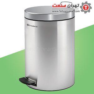 سطل زباله تمام استیل 5 لیتری Brasiana مدل BPB-141 - کد 614