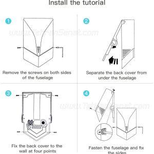 روش نصب دست خشک کن sitco